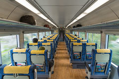 The seats of sightseeing train Stock Photography