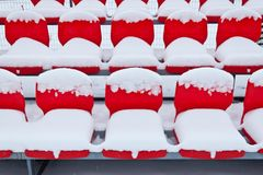 Seats in the snow Stock Photo
