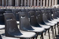 Seats in St Peter Square Stock Photos