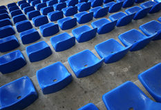 Seats in stadium. Stadium seats top view Royalty Free Stock Photography