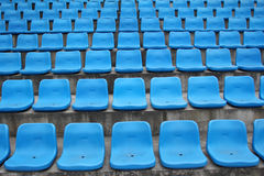 Seats in stadium. Tribune, stadium seats, fan zone Royalty Free Stock Photos