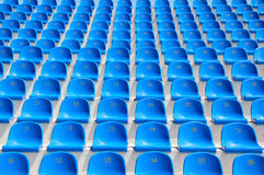 Seats in a stadium Stock Photo