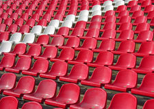 Seats in the stadium Stock Photo