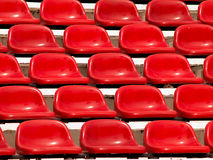 Seats in a stadium Royalty Free Stock Photos