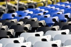Seats at a Stadium. Seats sit empty at a stadium Stock Photography