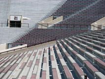 Seats at a stadium. Bleachers at a football stadium Royalty Free Stock Images