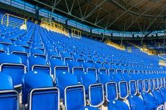 Seats on stadium Stock Photos