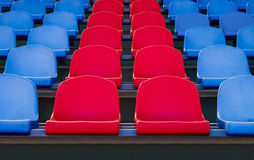 The seats in the stadium Royalty Free Stock Image