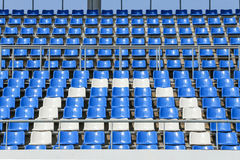 Seats at the stadium Stock Photography