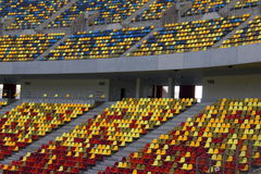Seats at stadium Stock Photo