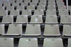 Seats at the stadium Stock Images
