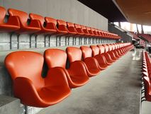 Seats at stadium Letzigrund Stock Image