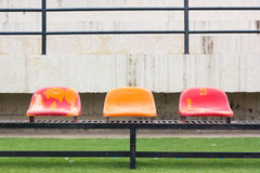 Seats at the stadium. Royalty Free Stock Photos