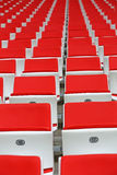 Seats at the stadium Royalty Free Stock Images