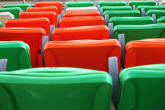 Seats on the stadium Royalty Free Stock Photography
