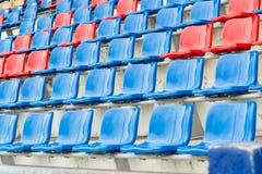 Seats in stadium Royalty Free Stock Photos