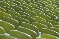 Seats of a Stadium Stock Photo