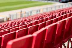 Seats at stadium Royalty Free Stock Images