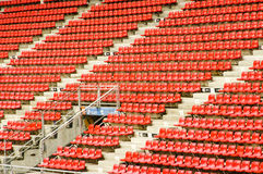Seats in the stadium Royalty Free Stock Photos