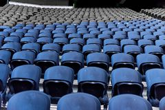 Seats in the stadium royalty free stock photo