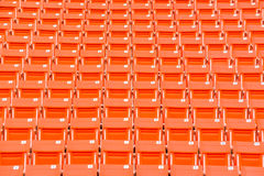 Seats on stadium steps bleacher with spot light pole Royalty Free Stock Images