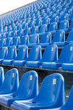 Seats in the stadium to support groups. During the match stock photo