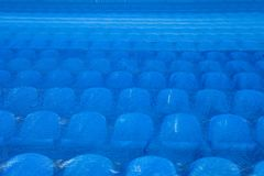 The seats in the stadium under the film. FIFA World Cup 2018. royalty free stock photos
