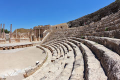 The seats and a stage in the Roman amphitheater Stock Image