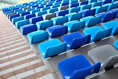 Seats with staircase aside Stock Photography