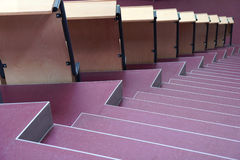 Seats with stairs in university hall Royalty Free Stock Photography