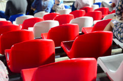 Seats in the stands of a football field Royalty Free Stock Photography