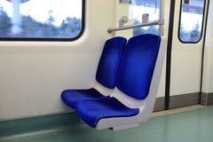 Seats in subway train Royalty Free Stock Photo