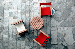 Seats and table. In caffe Royalty Free Stock Images
