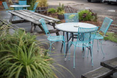 Seats and tables Stock Images