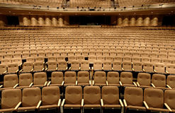 Seats in a theater. Empty seats in a performing arts theater stock photography