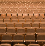 Seats in a theater. Brown seats in a theater, background Stock Photography