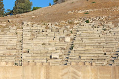 Seats in theater of Dionysus in Athens, Greece Stock Photos