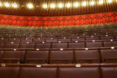 Seats of theater Royalty Free Stock Photo