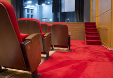 Seats in a theater and opera Royalty Free Stock Image