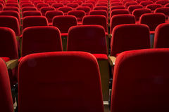 Seats in a theater and opera Stock Photos