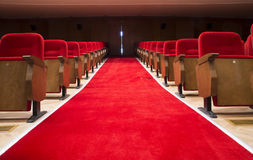 Seats in a theater and opera. Red seats in a theater and opera Royalty Free Stock Photo