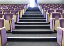 Seats in theatre. Rows of comfortable seats in concert hall Royalty Free Stock Images
