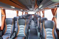Seats of tourism bus Stock Photos