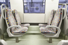 Seats on a train Royalty Free Stock Image