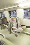 Seats on a train Stock Image