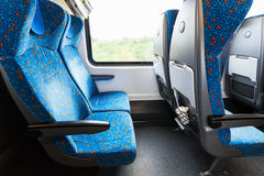Seats in train in second class Stock Photography