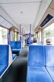 Seats in a tram in Germany Stock Image