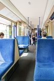 Seats in a tram in Germany Royalty Free Stock Photo