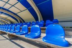 Seats on tribune sports stadium Royalty Free Stock Images