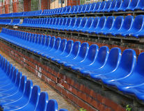 Seats in the tribunes Royalty Free Stock Photo